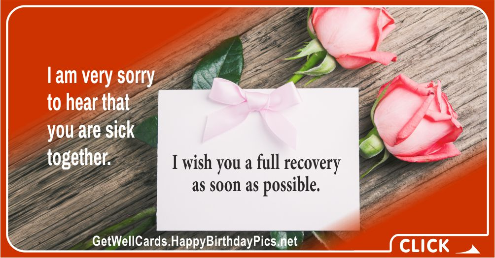 Get Well Soon, Dear Family - Recovery Wish Card